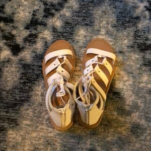 Shoes - Brand new pair of white sandals never worn ...